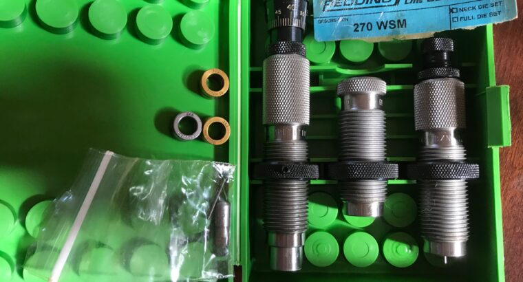 270 WSM Reloading dies and components